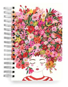 Country Hair Jumbo Journal Hair Painting, Acrylic Painting Canvas, Notebook Covers, Stationery Design, Big Hair, The Conjuring, Paper Design, Gouache, Whimsical