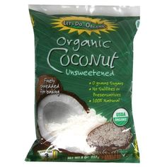 Let's Do Organic Coconut Shredded, Unsweetened, 8-Ounce (Pack of 6) >>> Sensational bargains just a click away : baking desserts recipes