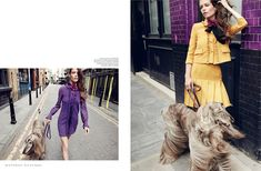 Louise Pedersen Pose on Harper's Bazaar Russia Magazine November 2015 issue Photoshoot