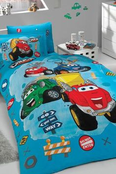 Chuck and Friends Cotton Single Twin Duvet Cover Set 003 Single Quilt, Quilt Cover Sets, Storage Chest, Duvet Covers, Toddler Bed, Home And Garden, Baby Boy, Kids Rugs, Quilts