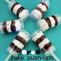 Oreo Push Ups - another idea for my push pops.