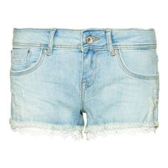 Superdry Lace Hot Shorts (£40) ❤ liked on Polyvore featuring shorts, women shorts, embroidered shorts, lace hot pants, short shorts, lacy shorts and superdry
