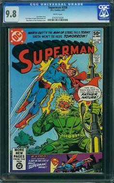 Superman 358 CGC 9 8 Highest Graded Curt Swan Ross Andru Dick Giordano Art | eBay