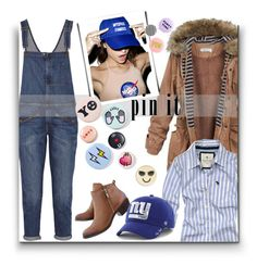 """""""249. Fun"""" by milva-bg ❤ liked on Polyvore featuring Abercrombie & Fitch, Current/Elliott, O-Mighty, '47 Brand, Bing Bang and Design Lab"""