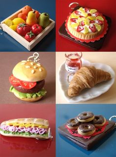Bijoux forme gâteaux en pâte Fimo