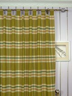 Extra Wide Hudson Large Plaid Tab Top Curtains 100 Inch - 120 Inch Curtain Panel | Cheery Curtains: Ready Made and Custom Made Curtains For Less