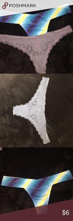 2 Victoria's Secret thongs size small 2 brand new never worn Victoria's Secret thongs.                 1) Extra Low Rise Thong.                                                              2) Gray Lace Thong. PINK Victoria's Secret Intimates & Sleepwear Panties