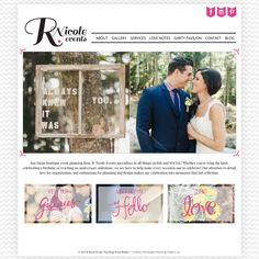 R Nicole Event's website design is almost complete. Designed by Melissa Mitchell with Wordpress and the Prophoto Blog Template.