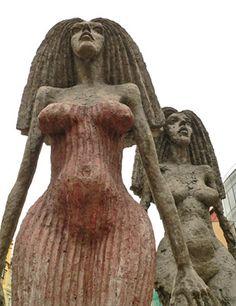 Olbram Zoubek - The Queen Klytaimnestra . Sculpture Art, Garden Sculpture, Architectural Sculpture, Bronze, Statue, Figurative, Queen, Design, Czech Republic