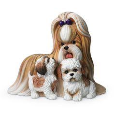Ши-тцу мама и щенки