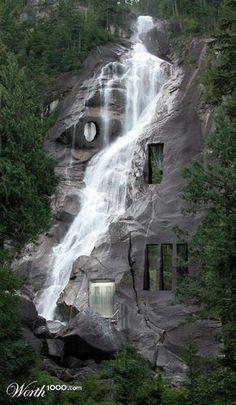 Waterfall house. Thi nature love
