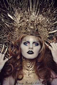 GOLD   model: talitha floor  Make-up/ styling/ photo: candy makeup artist   Want to buy handmade styling/ headdresses, or hire me? Click on the link!