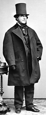 1860s Out Door Dress | There are four kinds of coats which the Victorian gentleman must have: a morning coat, a frock coat, a dress coat, and an overcoat.