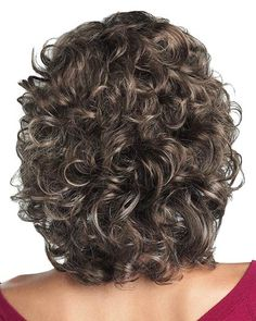 Cheapest Brown Curly Shoulder Length Classic Wigs Real Hair Wigs Classic Bobs - July 20 2019 at Curly Hair Cuts, Short Curly Hair, Curly Hair Styles, Wavy Hair, Short Wavy, Short Cuts, Fine Hair, Permed Hairstyles, Easy Hairstyles