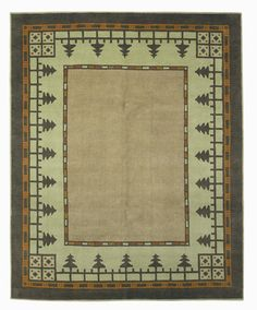 The Mission Motif  -  Craftsman Pine Forest Meadow Rug , $300.00 (http://www.missionmotif.com/craftsman-pine-forest-meadow-rug/)