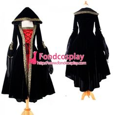 High Quailty Medieval Renaissance Gown Victorian Rococo Gown Black And Red Ball Miko Velvet Dress Renaissance Gown, Medieval Gown, Rococo, Costume Accessories, Custom Made, Velvet, Gowns, Female, Cosplay Costumes