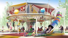 Park Playground, Playground Design, Indoor Playground, Play Spaces, Kid Spaces, Cool Playgrounds, Garden Mirrors, Outdoor Fitness Equipment, Natural Playground