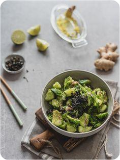 Asiatischer Gurkensalat mit Wakame Paella, Everyday Food, Asian Recipes, Sushi, Nom Nom, Salads, Vegan, Vegetables, Vegetarian Cooking