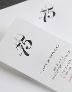 love these business cards CF Napa