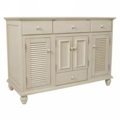 Foremost FMCTAA6022D Cottage 60 in. W x 21.625 in. D x 34 in. H Vanity Cabinet in Antique White (Top and basins not included) Antique White - eFaucets.com