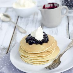 Salty and airy whipped pancake butter