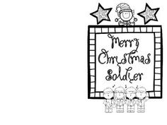 christmas military coloring pages - photo#36