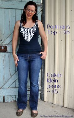 denim and navy op shop finds - calvin klein and portmans