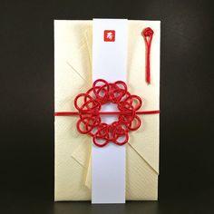 ハンドメイドマーケット minne(ミンネ)| 紅色の波紋が広がるご祝儀袋