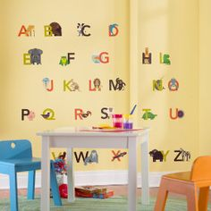 Animals Alphabetized Wall Decals in Wall Decals | The Land of Nod