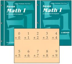 Saxon Math 1 Student Workbooks / Fact Cards | Main photo (Cover)