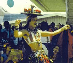 Rick Dillenbeck performing a Shikhat (Moroccan Tray Dance) at the 24th st fair, 1978