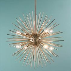 """Chadelier option# 4 - This finish is actually called """"Silver leaf"""" - Galaxy Star Modern Chandelier from Shades of Light"""