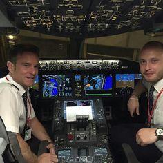 Norwegian Air B787 cockpit @flynorwegian