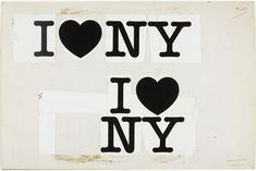 Milton Glaser. I (Heart) NY concept layout. 1976