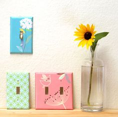 make your own designer switchplates, crafts, decoupage, how to, lighting