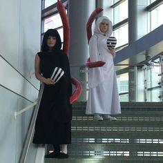 Tokyo Ghoul anime costume Kurona and Nashiro Yasuhisa. Made by Julia's Custom Stitches.