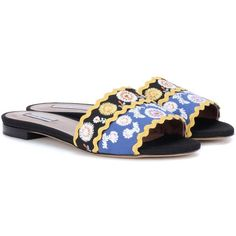 Tabitha Simmons Sprinkles Spain Embroidered Sandals ($445) ❤ liked on Polyvore featuring shoes, sandals, tabitha simmons, embroidered sandals, tabitha simmons shoes, tabitha simmons sandals and embroidered shoes