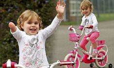Fun-loving Sophie Smith, two, struggled to balance on her pink and white cycle because she was born with half a right arm.