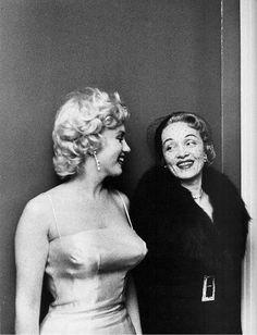 Marilyn Monroe & Marlene Dietrich, 1955 (By Milton Greene)