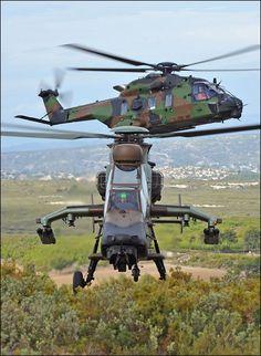 Eurocopter EC665 Tigre y NH Industries NH-90 TTH, futuro helicóptero de transporte táctico de las FAMET. Foto: Airbus Helicopters