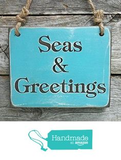 Seas & Greeting Sign - Christmas Wall Decor - Nautical Christmas Sign from…