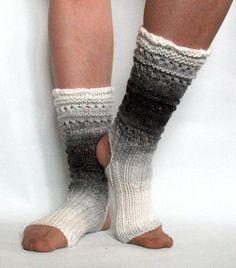 Yoga Socks Dance Pilates Ballet Gray Black White Leg Warmers