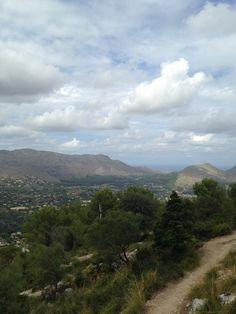 View from Puig de Maria towards Puerto Pollensa - fabulous walk.