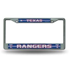 Texas Rangers Bling Glitter Chrome License Plate Frame #TexasRangers