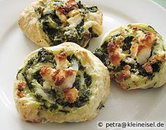 Feta-Spinat Schnecken by Brot & Rosen