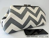 Frame Clutch, Chevron Gray and Cream