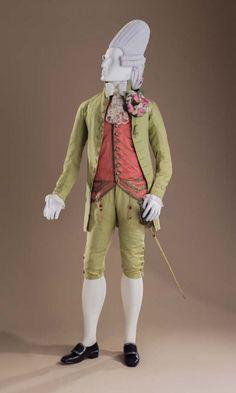 Reigning Men: Fashion in Menswear, 1715–2015 | LACMA Macaroni Ensemble: Suit, c. 1770, Costume Council Fund; Waistcoat, c. 1770