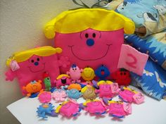 Little Miss and Mr Men  Pick one by araleling on Etsy, $8.50