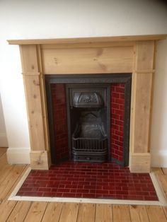 Fireplace Styles, Payment and Returns Policies, Unit Conversion Formulas and other useful info. Tile Around Fireplace, Wood Burner Fireplace, Old Fireplace, Living Room With Fireplace, Fireplace Surrounds, Fireplace Kitchen, Fireplace Ideas, Wood Stove Surround, Fire Surround