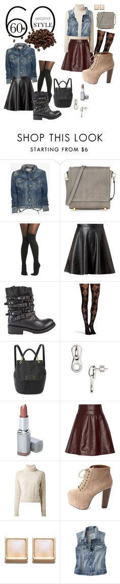 """60-Second Style: The Coffee Date"" by spells-and-skulls ❤ liked on Polyvore featuring rag & bone/JEAN, Alexander Wang, Pretty Polly, Ash, Marc by Marc Jacobs, Temperley London, Chanel, Charlotte Russe, Warehouse and Gap"